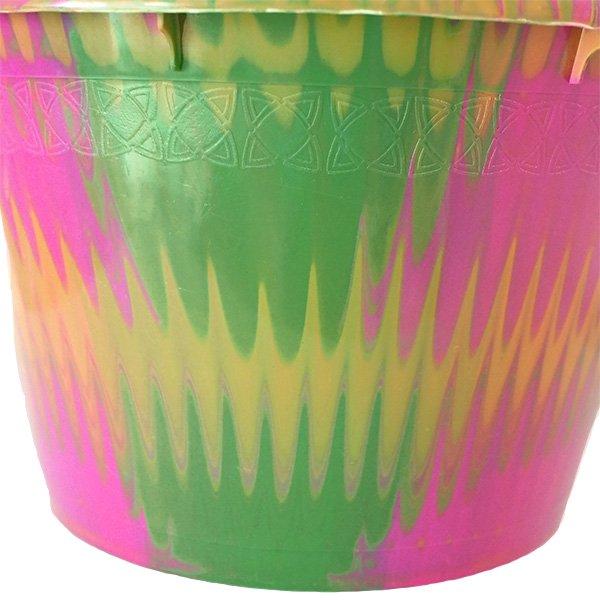 セネガル プラスチック持ち手付きの桶(ピンク 12リットル)【画像2】