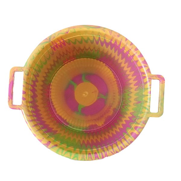 セネガル プラスチック持ち手付きの桶(ピンク 12リットル)【画像3】