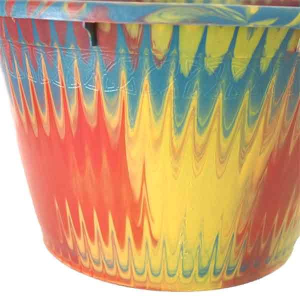 セネガル プラスチック持ち手付きの桶(イエロー 12リットル)【画像2】