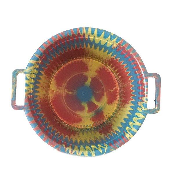 セネガル プラスチック持ち手付きの桶(イエロー 12リットル)【画像3】