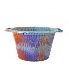 セネガル プラスチック持ち手付きの桶(パープル 12リットル)