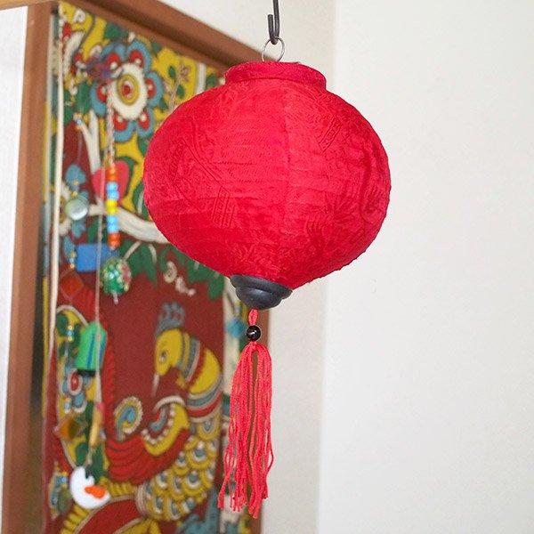 ベトナム ランタン 丸形(提灯)3色【画像2】