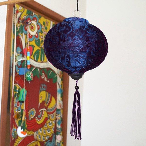 ベトナム ランタン 丸形(提灯)3色【画像3】