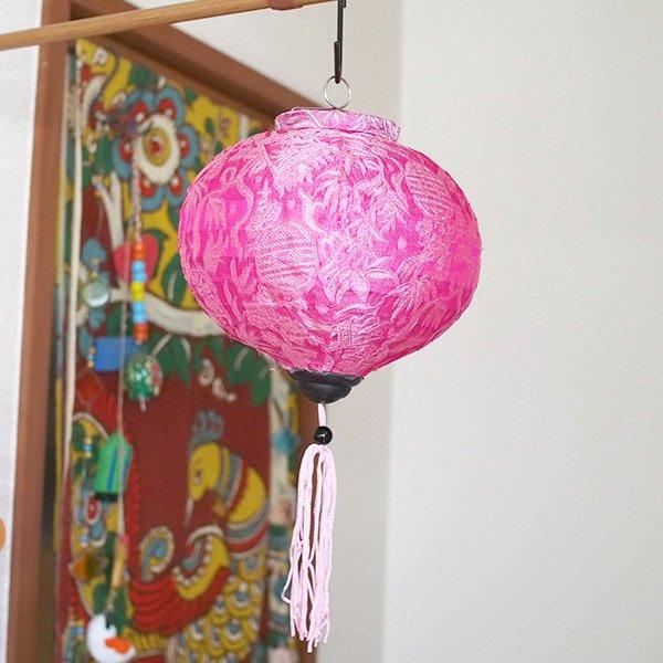 ベトナム ランタン 丸形(提灯)3色【画像4】