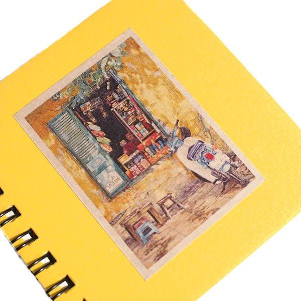 ベトナム ミニノート  イエロー(5種 プロパガンダアート・民族衣装・日常)【画像5】