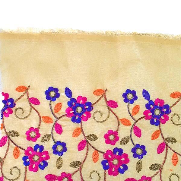 インド ラジャスタンの刺繍布 ゴールド(幅約107cm / 1m切り売り )【画像6】