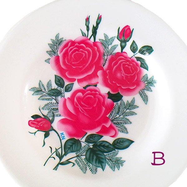 ベトナム 花柄 プラスチック 皿 (直径 約15.5cm)【画像3】