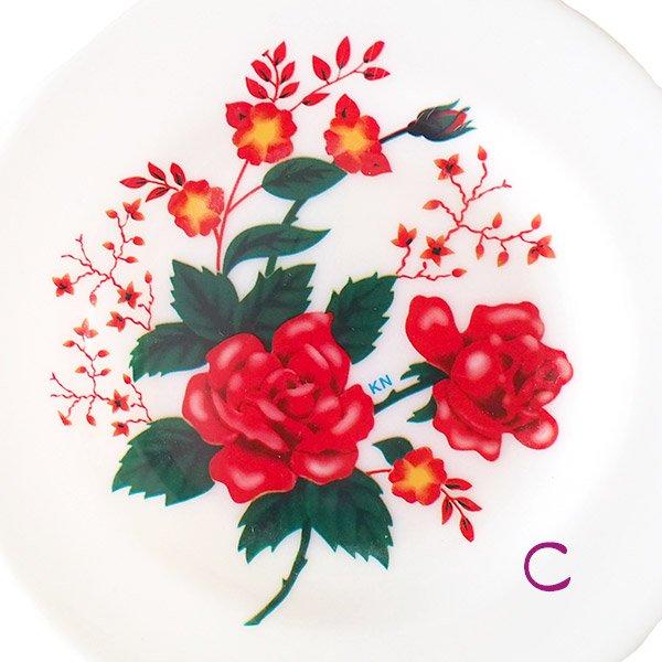 ベトナム 花柄 プラスチック 皿 (直径 約15.5cm)【画像4】
