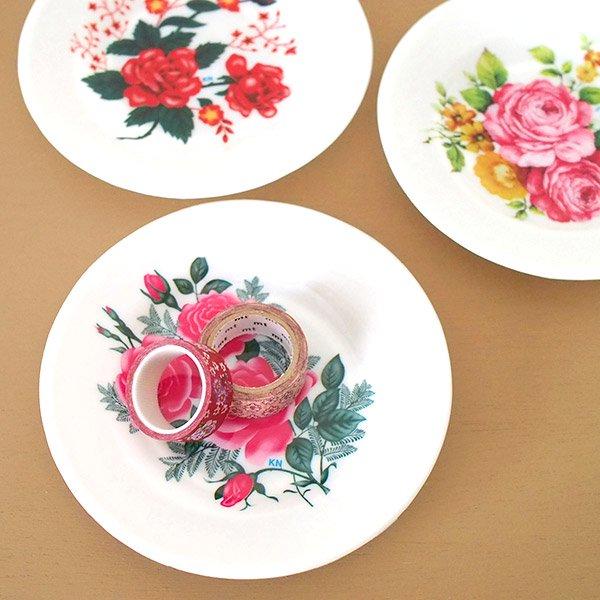 ベトナム 花柄 プラスチック 皿 (直径 約15.5cm)【画像6】