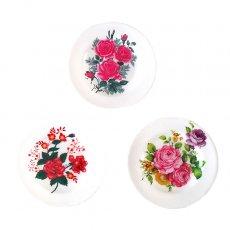 ベトナム 花柄 プラスチック 皿 (直径 約15.5cm)