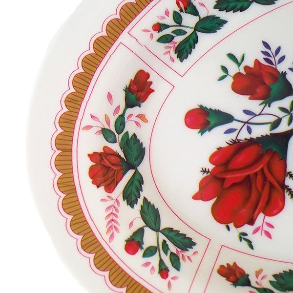ベトナム 花柄 プラスチック 皿 (楕円 横約25cm)【画像3】