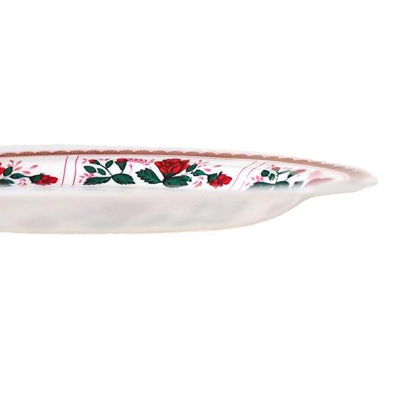 ベトナム 花柄 プラスチック 皿 (楕円 横約25cm)【画像4】