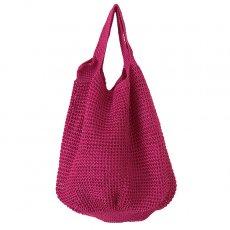 ブルキナファソ かぎ編みバッグ(ピンク)