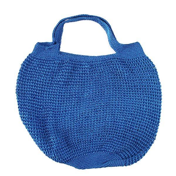 ブルキナファソ かぎ編みバッグ(ブルー)【画像2】