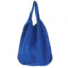 ブルキナファソ かぎ編みバッグ(ブルー)