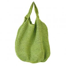 ブルキナファソ かぎ編みバッグ(グリーン)