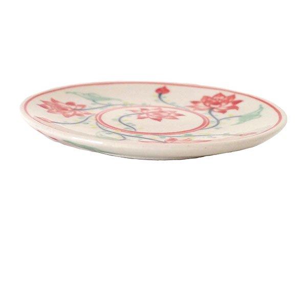 ベトナム バッチャン焼き 手描き  蓮  小皿(直径約12cm)【画像5】