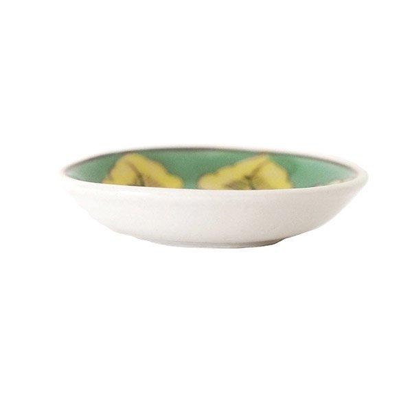 ベトナム バッチャン焼き 手描き  花 カラフル 豆皿 3色 (直径 約8.5cm)【画像6】
