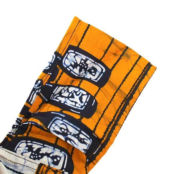 【HARMONY FOR PEACE プロジェクト】マリ 足踏みミシンで仕立てた パーニュ 巾着 エコバッグ(6ボトル オレンジ)【画像5】