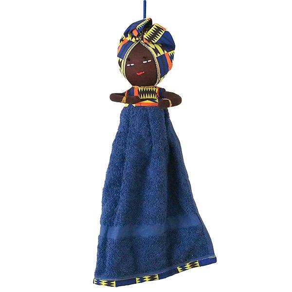 コートジボワール タオル 人形(タオルカラー ネイビー)