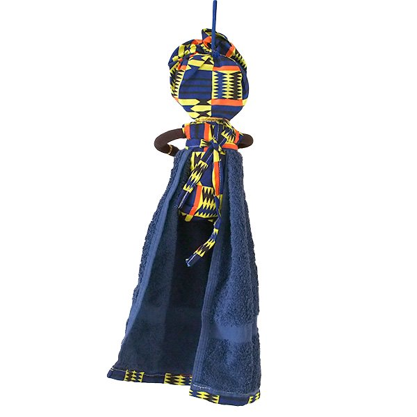 コートジボワール タオル 人形(タオルカラー ネイビー)【画像2】