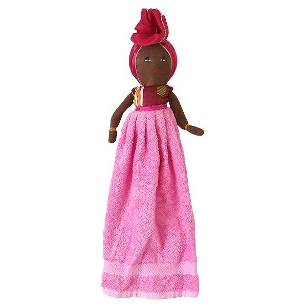 コートジボワール タオル 人形(タオルカラー ピンク)