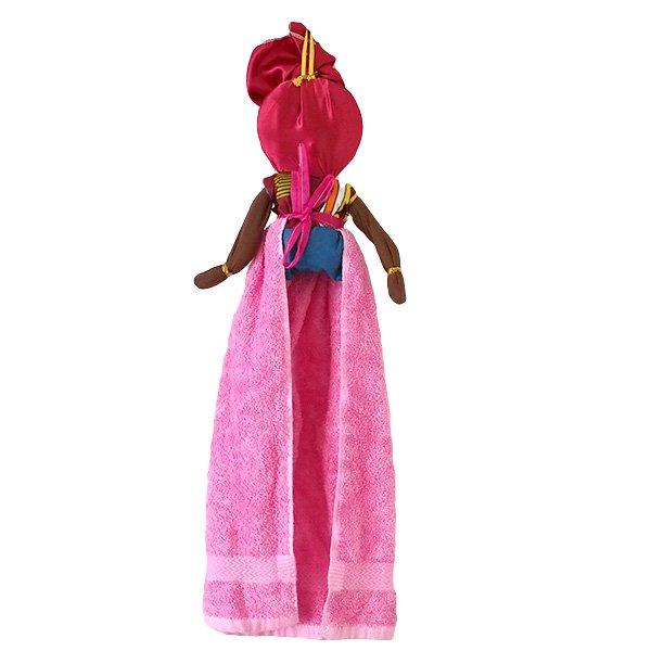 コートジボワール タオル 人形(タオルカラー ピンク)【画像2】