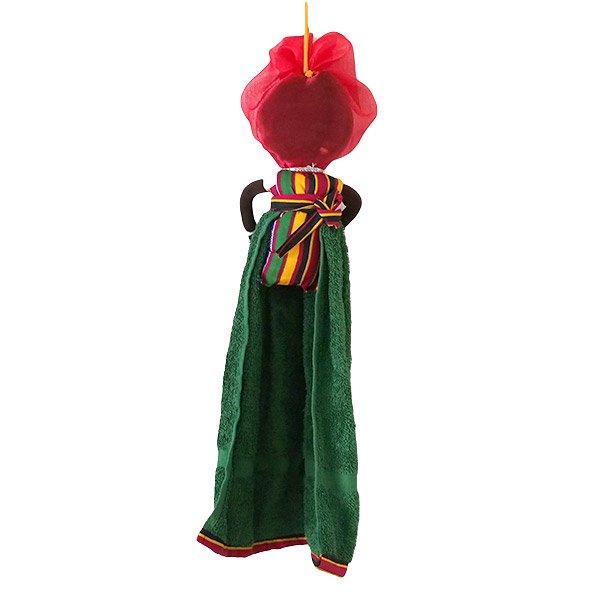 コートジボワール タオル 人形(タオルカラー グリーン)【画像2】
