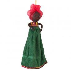 コートジボワール タオル 人形(タオルカラー グリーン)