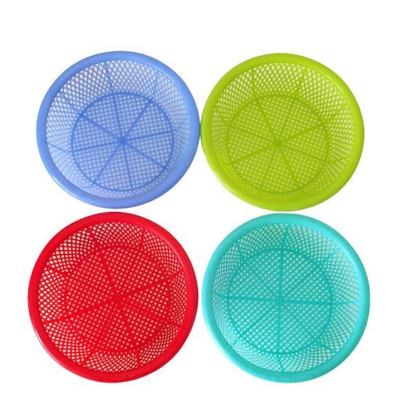 ベトナム カラフルなプラスチック ザル (4色)