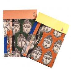 インド  インド ウッドブロック プリント (木版)ブッダ おたのしみ 袋