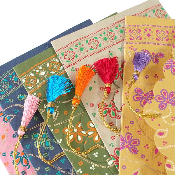 インド chimanlalsの封筒(お花柄)