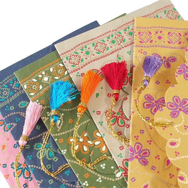 インド chimanlal(チマンラール)封筒 BINDU 花柄D 【画像6】