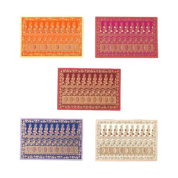インド  chimanlals(チマンラール)メッセージカード NOOR B トリと植物(封筒付き)