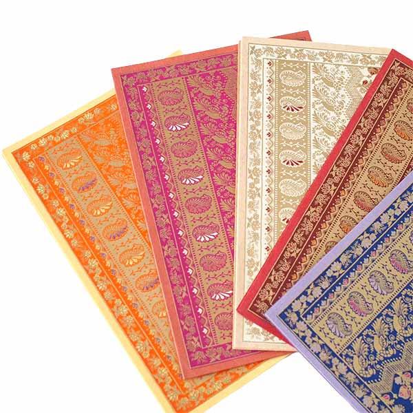 インド  chimanlals(チマンラール)メッセージカード NOOR B トリと植物(封筒付き)【画像7】