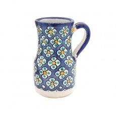 【一点もの】モロッコ フェズ 陶器 花瓶(ブルー)