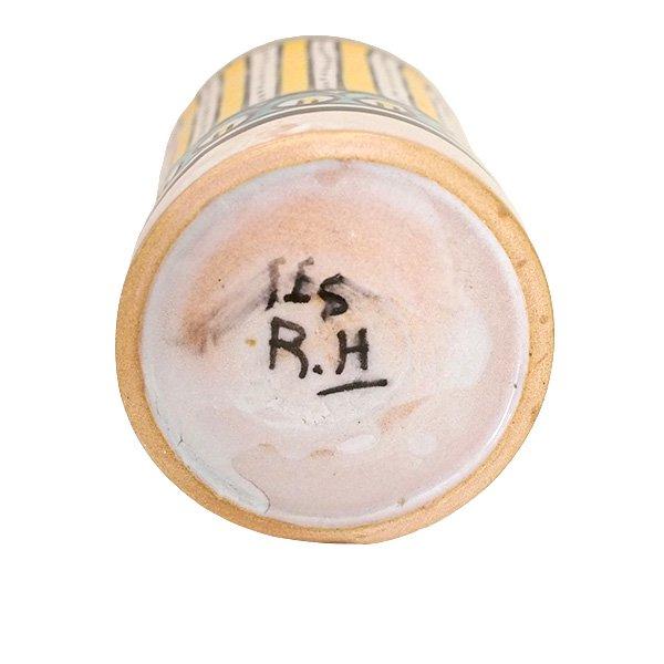 モロッコ フェズ 陶器 コップ  イエロー (高さ約11cm×直径約7.5cm)【画像2】