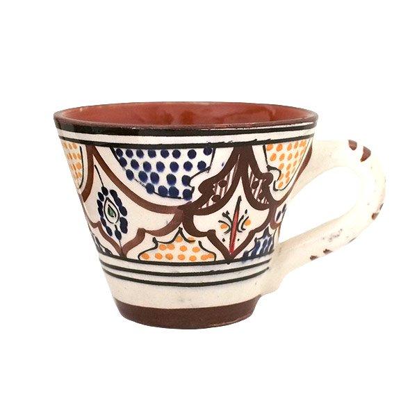 モロッコ サフィ陶器 カップ(ブラウン)