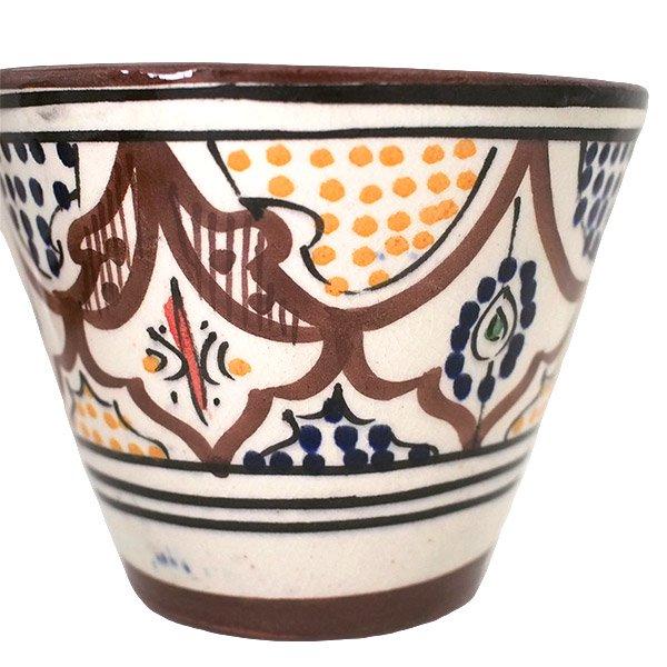 モロッコ サフィ陶器 カップ(ブラウン)【画像3】