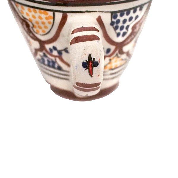 モロッコ サフィ陶器 カップ(ブラウン)【画像4】