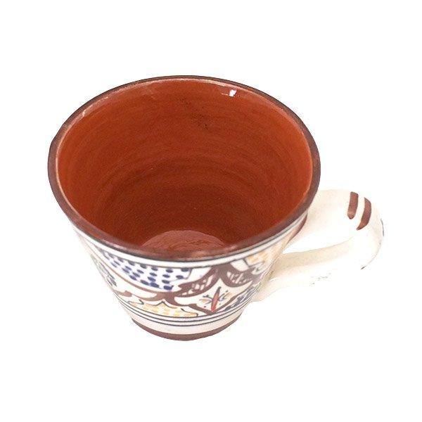 モロッコ サフィ陶器 カップ(ブラウン)【画像5】