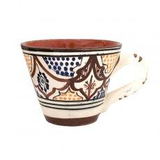 モロッコ サフィ陶器 カップ ブラウン (直径 約11cm×高さ約9cm)