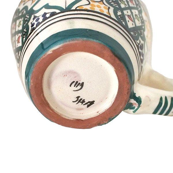 モロッコ サフィ陶器 カップ グリーン (直径 約11cm×高さ約9cm)【画像2】