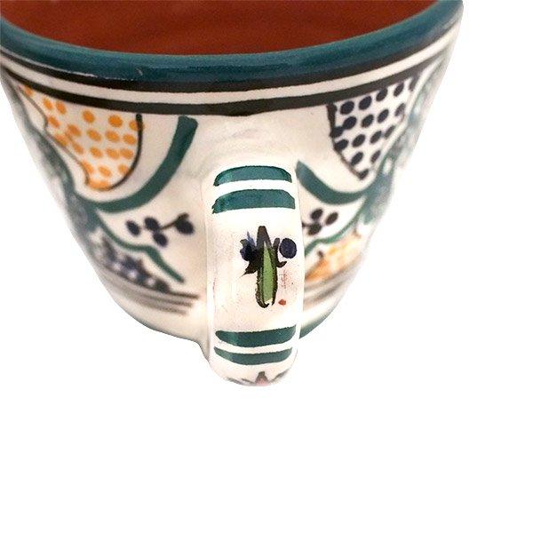 モロッコ サフィ陶器 カップ グリーン (直径 約11cm×高さ約9cm)【画像4】