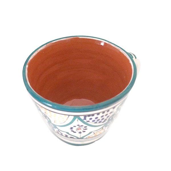 モロッコ サフィ陶器 カップ グリーン (直径 約11cm×高さ約9cm)【画像5】