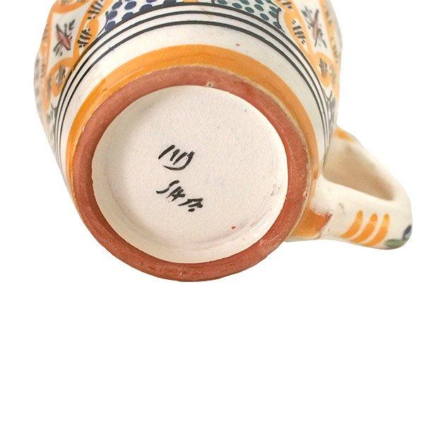 モロッコ サフィ陶器 カップ  オレンジ (直径 約11cm×高さ約9cm)【画像2】
