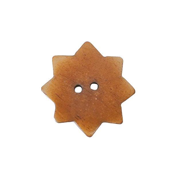 ネパール 水牛の角で作られたボタン(茶 星型 3×3)ハンドメイド 手芸【画像3】
