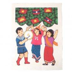 ベトナム プロパガンダ アート ポスター(V)約40×30
