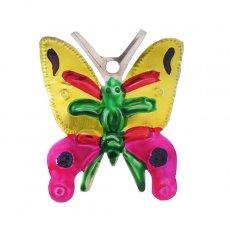 メキシコ ブリキオーナメント(バタフライ 蝶々 イエロー)