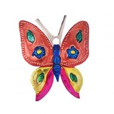 メキシコ ブリキ  メキシコ ブリキオーナメント(バタフライ 蝶々 ブラウン)